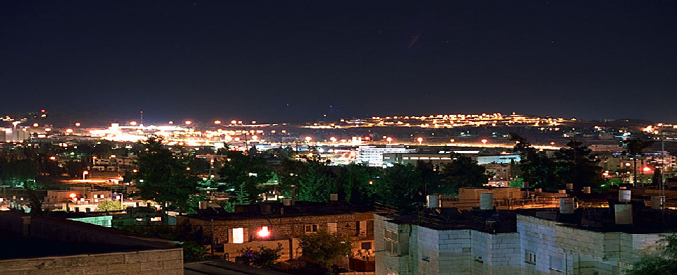 Jerusalem city lights